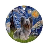 Starry Night Skye Terrier Ornament (Round)