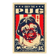 Pug USA Flying Ace Postcards (Pack of 8)
