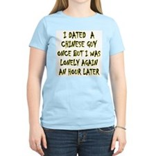 """""""I Dated a Chinese Guy"""" Women's Pink T-Shirt"""