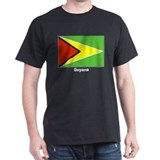 Guyana Guyanan Flag (Front) Black T-Shirt