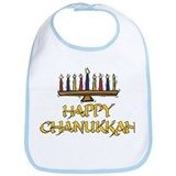 Happy Chanukkah Bib