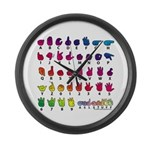 RBW Fingerspelled ABC Large Wall Clock