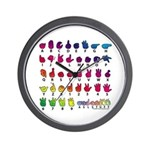 RBW Fingerspelled ABC Wall Clock