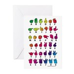 RBW Fingerspelled ABC Greeting Cards (Pk of 20)