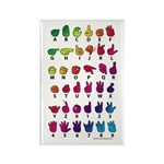 RBW Fingerspelled ABC Rectangle Magnet (100 pack)