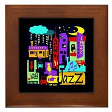 Jazz Nights Framed Tile