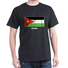 Jordan Jordanian Flag (Front) Black T-Shirt