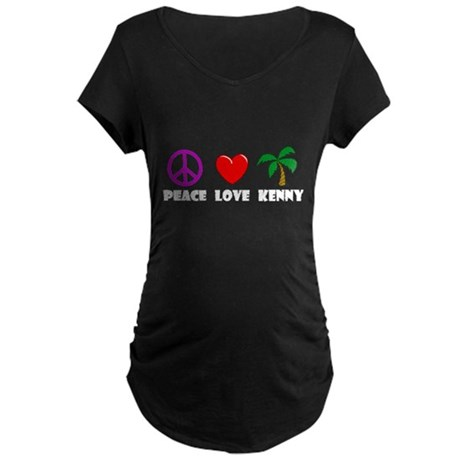 Peace Love Kenny Maternity Dark T-Shirt