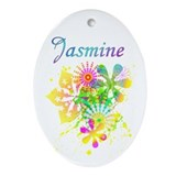 Jasmine Oval Ornament