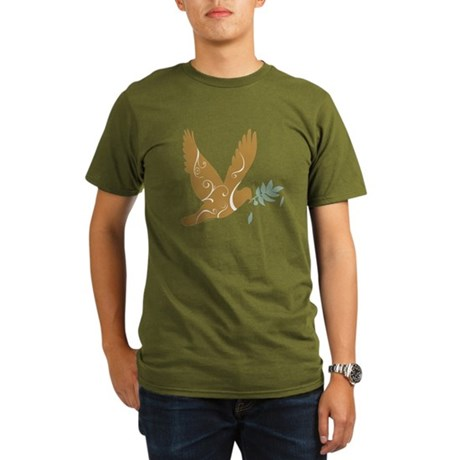 Golden Peace Organic Men's T-Shirt (dark)