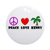 Peace Love Kenny Ornament (Round)