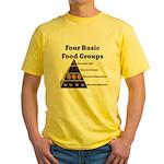 Four Basic Food Groups Yellow T-Shirt