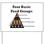 Four Basic Food Groups Yard Sign