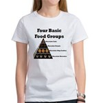 Four Basic Food Groups Women's T-Shirt