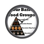Four Basic Food Groups Wall Clock