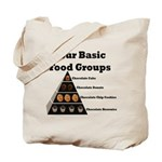 Four Basic Food Groups Tote Bag