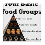 Four Basic Food Groups Tile Coaster