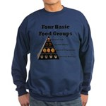Four Basic Food Groups Sweatshirt (dark)