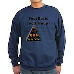 Four Basic Food Groups Sweatshirt (dark)