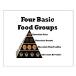 Four Basic Food Groups Small Poster