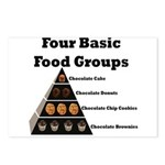 Four Basic Food Groups Postcards (Package of 8)