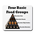 Four Basic Food Groups Mousepad