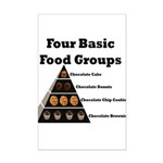 Four Basic Food Groups Mini Poster Print