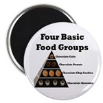 Four Basic Food Groups Magnet