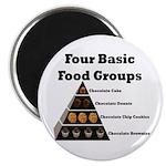 Four Basic Food Groups Magnet