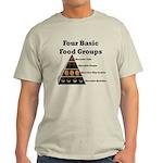 Four Basic Food Groups Light T-Shirt