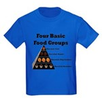 Four Basic Food Groups Kids Dark T-Shirt