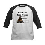 Four Basic Food Groups Kids Baseball Jersey