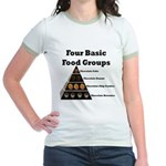 Four Basic Food Groups Jr. Ringer T-Shirt