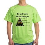 Four Basic Food Groups Green T-Shirt