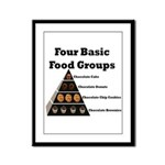 Four Basic Food Groups Framed Panel Print