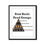 Four Basic Food Groups Framed Panel Print