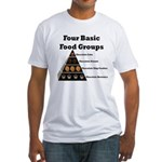 Four Basic Food Groups Fitted T-Shirt