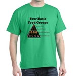 Four Basic Food Groups Dark T-Shirt