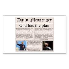 Christian bailout satire Rectangle Sticker 10 pk)