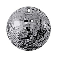 Shiny Disco Mirror Ball Ornament (Round)