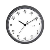 Cute Mathematician Wall Clock