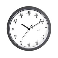 Unique Mathematician Wall Clock