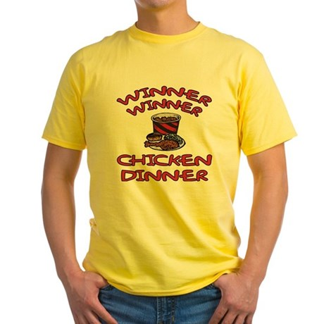 Winner Winner Chicken Dinner Yellow T-Shirt