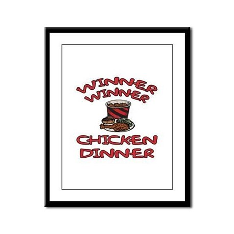 Winner Winner Chicken Dinner Framed Panel Print