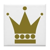 Golden Crown Tile Coaster