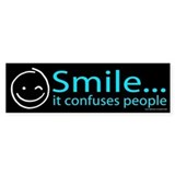 Smile Blue (sticker)