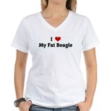 I Love My Fat Beagle Shirt
