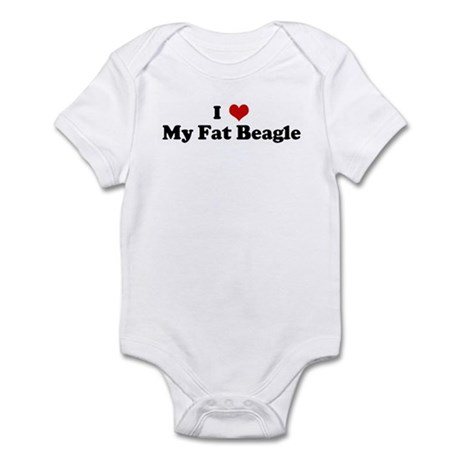 I Love My Fat Beagle Infant Bodysuit