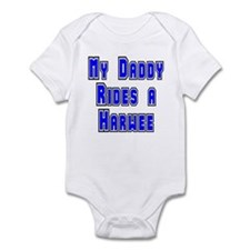 My daddy rides a Harwee Infant Bodysuit