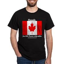 CanadaFranceColder Black T-Shirt